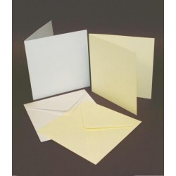 5 x 5 Ivory Cards and Envelopes Pack of 10
