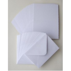 5 x 7 Tent / Landscape White Cards and Envelopes Pack of 10