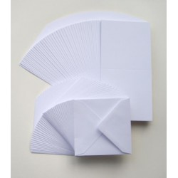 6 x 6 White Pearlescent Cards and Envelopes Pack of 10