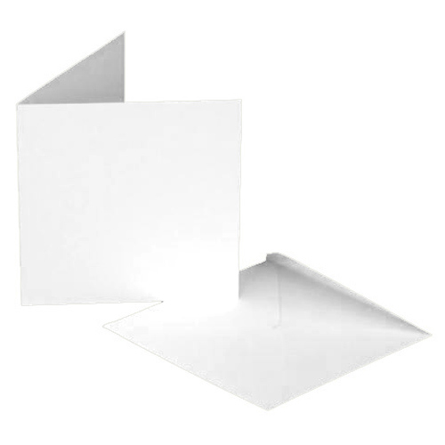 8 x 8 White Cards and Envelopes Pack of 10