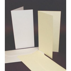 DL Wedding Ivory Pearlised Cards and Pearl Envelopes Pack of 10