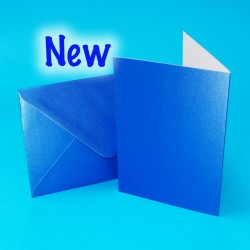 C6 Pearl Blue Cards and Matching Envelopes Pack of 5