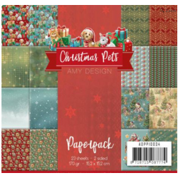 "Christmas Pets Paper  Pack - 23 Sheets 6"" x 6"" (2 sided)"