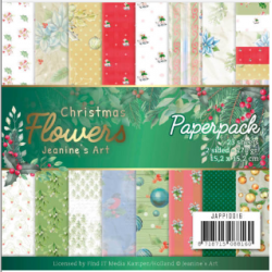 "Christmas Flowers  Paper  Pack - 23 Sheets 6"" x 6"" (2 sided)"