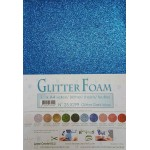 A4 Dark Blue Glitter Foam - Leane Creatief