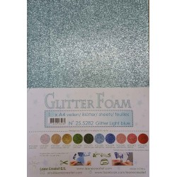 A4 Light Blue Glitter Foam - Leane Creatief