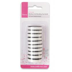 Medium Ink Blending Tool Refills 10 Foam Replacements
