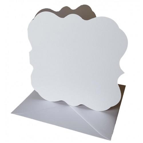 5 x 5 White Elegant Square Cards and Envelopes - Pack of 5