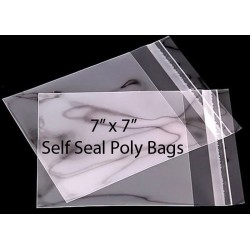 7 x 7 Self Seal Poly Bags Pack of 50