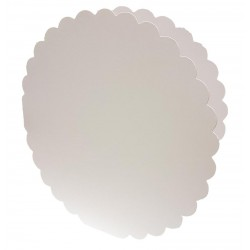8 x 8 Circle Scalloped Cards and Envelopes Pack of 5