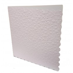 6 x 6 White Snowflake Embossed Cards and Envelopes Pack of 5