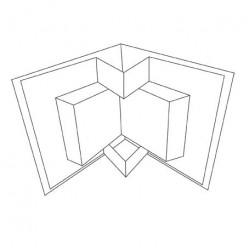 8 x 8 White Inner Folding Card Blanks And Envelopes Pack of 5