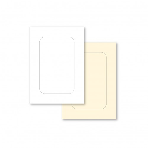 C5 White Rectangle - Smooth Corner Aperture Cards & Envelopes - Pack of 4