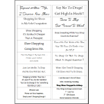 Easy Peel Self Adhesive Sentiments/Quotes Verses Set 1 - Pack of 5 Sheets