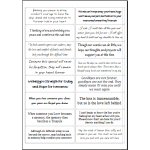 Easy Peel Self Adhesive Sentiments/Quotes Verses Set 2 - Pack of 5 Sheets