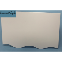 C5 White Card and Envelopes With Wavy Cut Edge - Pack of 5