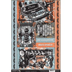 Die Cut Topper & Backing Sheet - The Barbers Shop