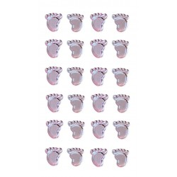 Baby Feet Pearl Blue - Embellishments Pack of 24