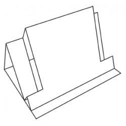 C5 White Outer Dimension Stepper Card Blanks And Envelopes Pack of 5