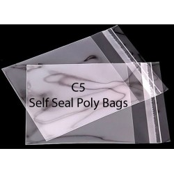 C5 Self Seal Poly Bags Pack of 25