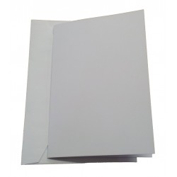 C5 Hammer Embossed White Card and Envelopes - Pack of 5