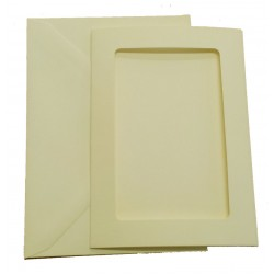 C6 Cream Rectangle Aperture Cards and Envelopes Pack of 5