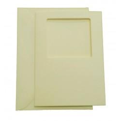C6 Cream Square Aperture Cards and Envelopes Pack of 5