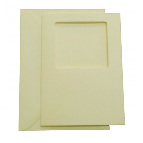 C6 Cream Square Aperture Cards and Envelopes Pack of 5