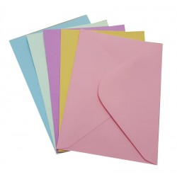 C6 Multi Coloured Envelopes Pack of 25