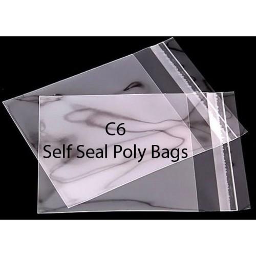 C6 Self Seal Poly Bags Pack of 25