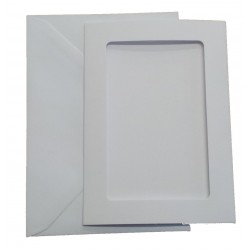 C6 White Rectangle Aperture Cards and Envelopes Pack of 5
