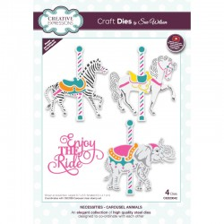 Creative Expressions Sue Wilson Necessities Carousel Animals Craft Die