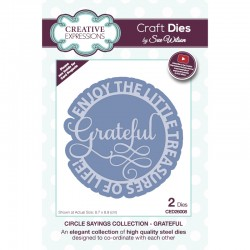 Creative Expressions Sue Wilson Circle Sayings Grateful Craft Die