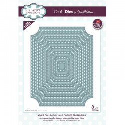 Creative Expressions Sue Wilson Noble Collection Cut Corner Rectangles Craft Die