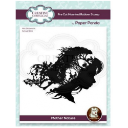 Creative Expressions Paper Panda Mother Nature 4.8 in x 4.3 in Pre Cut Rubber Stamp