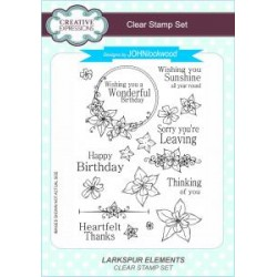 Creative Expressions deign by John Lockwood Larkspur Elements Clear Stamp Set