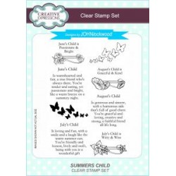 Creative Expressions designed by John Lockwood Summers Child Clear Stamp Set