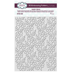 Embossing Folders by Sue Wilson - CE Embossing Folder 3D 5 3/4 x 7 1/2 Daisy Field