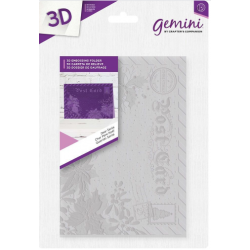"Gemini 5"" x 7""  3D Embossing Folder - Dear Santa"