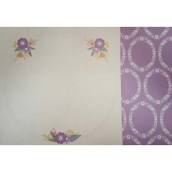 12 x 12 Floral Large Circle Purple - Double Sided Backing Paper