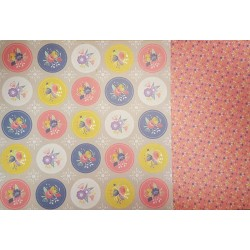12 x 12 Floral Circles - Double Sided Backing Paper