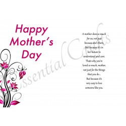 Happy Mothers Day For MOTHER - FREE Card Insert Download