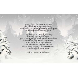 Snowy Trees & Christmas Verse FREE Download