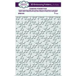 Creative Expressions Diamond Poinsettias 3D Embossing Folder 5 3/4 x 7 1/2