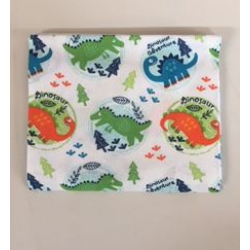 Fat Quarter Dinosaurs in Round Patches WhiteBackground 100% Cotton Fabric