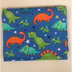 Fat Quarter Dinosaurs on Blue Background 100% Cotton Fabric