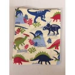 Fat Quarter Dinosaurs On Sandy Background 100% Cotton Fabric