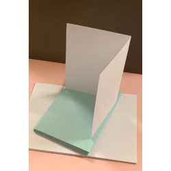 A6 White Cards and Blue Envelopes Pack of 10