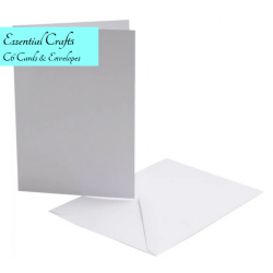 C6 White Cards and Envelopes Pack of 10