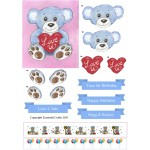 Love U Bear Boy & Girl- Non Die Cut Decoupage